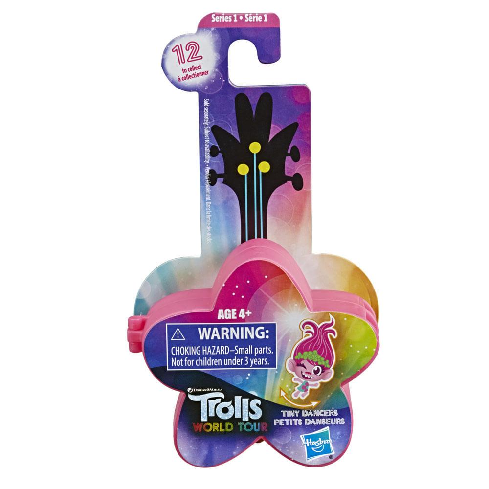 Mini Figura com Acessórios - Trolls - Pequenos Dançarinos - Estrela - Rosa - Hasbro