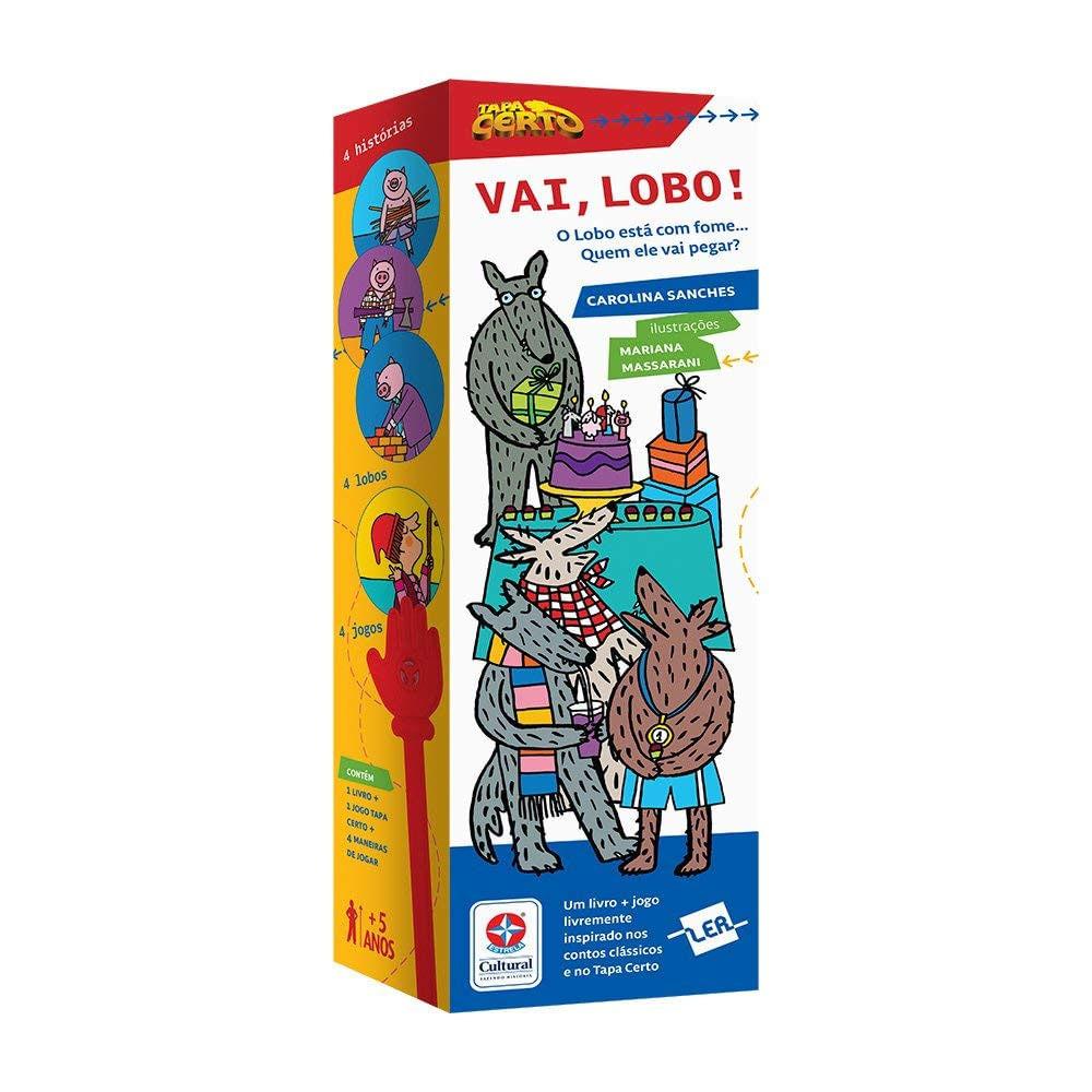 Livro Infantil e Jogo Tapa Certo - Vai Lobo! - Estrela Cultural