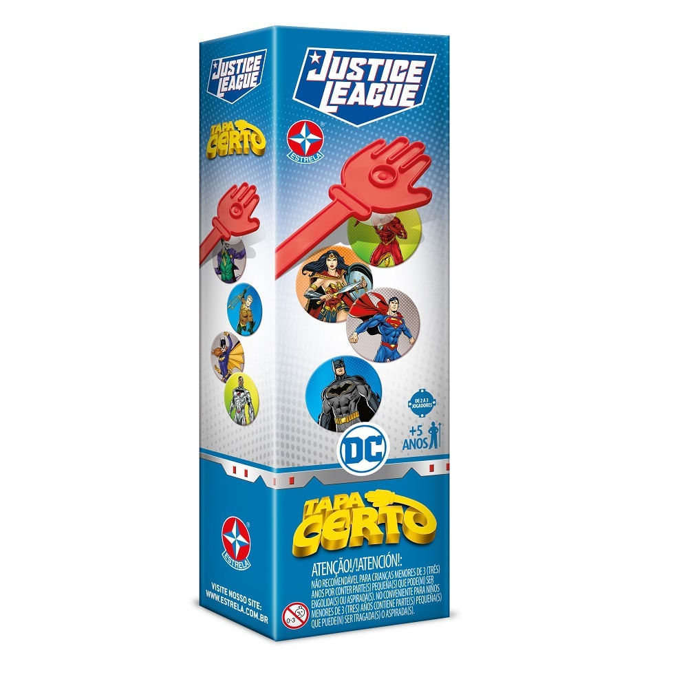 Jogo - Tapa Certo - Liga da Justiça - DC Comics - Estrela