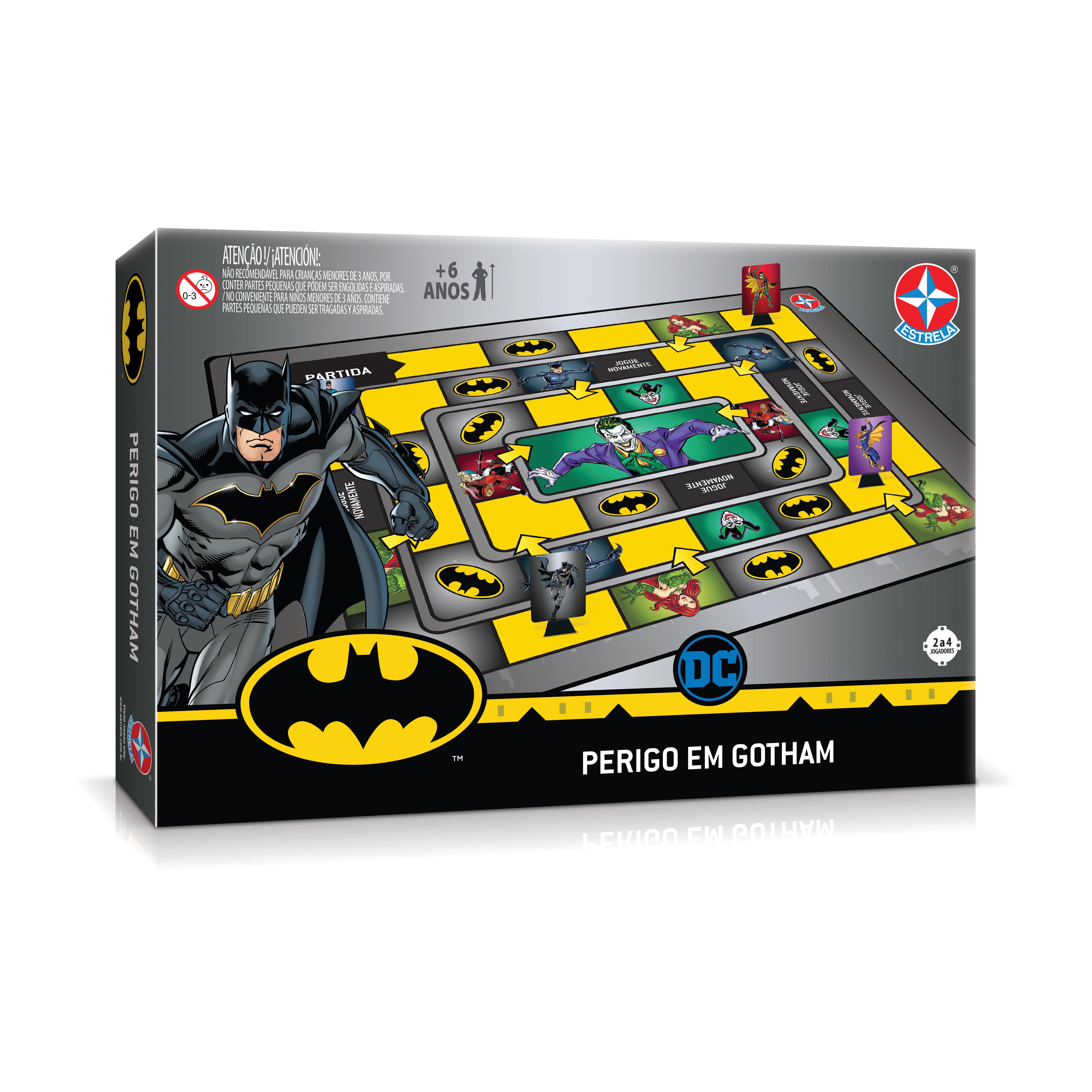 Jogo De Tabuleiro - DC Comics - Batman - Perigo em Gotham - Estrela