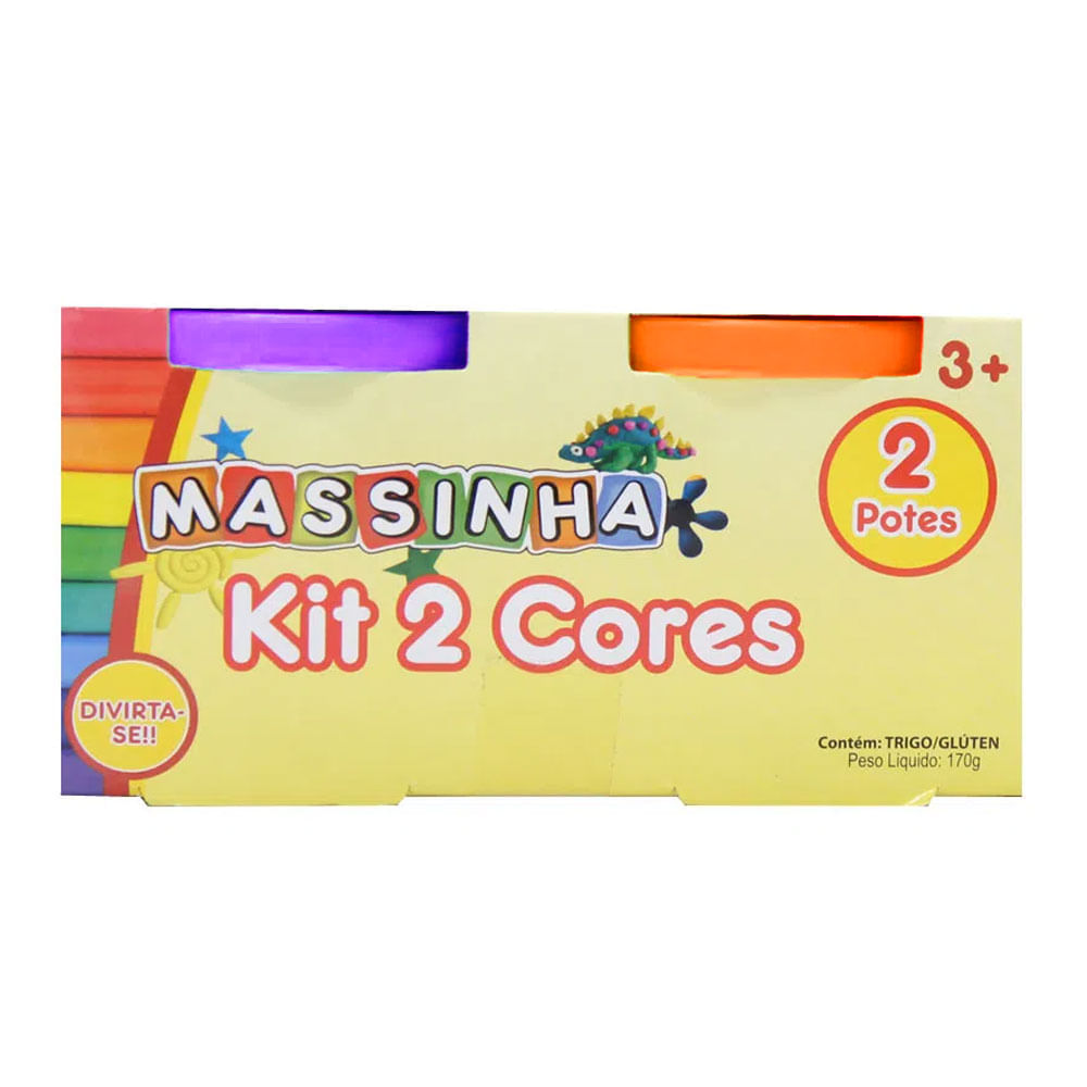 Massa de Modelar - Kit 2 Cores  - Laranja e Roxo - FanFun