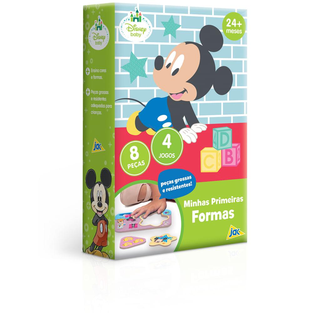 Blocos De Encaixe - 8 Peças - Minhas Primeiras Formas - Disney - Mickey - Toyster
