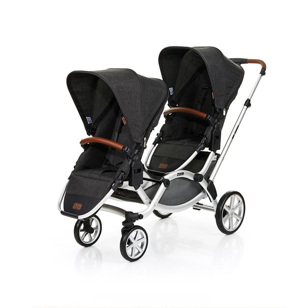 Carrinho de Bebê Para Gêmeos ABC Design Zoom Piano (6 Meses a 30kg)