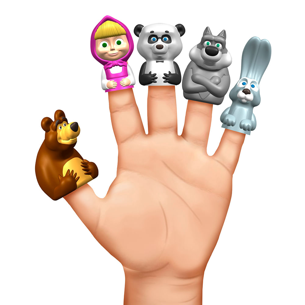 Conjunto De Mini Figuras - Dedoche - Masha e o Urso - Estrela