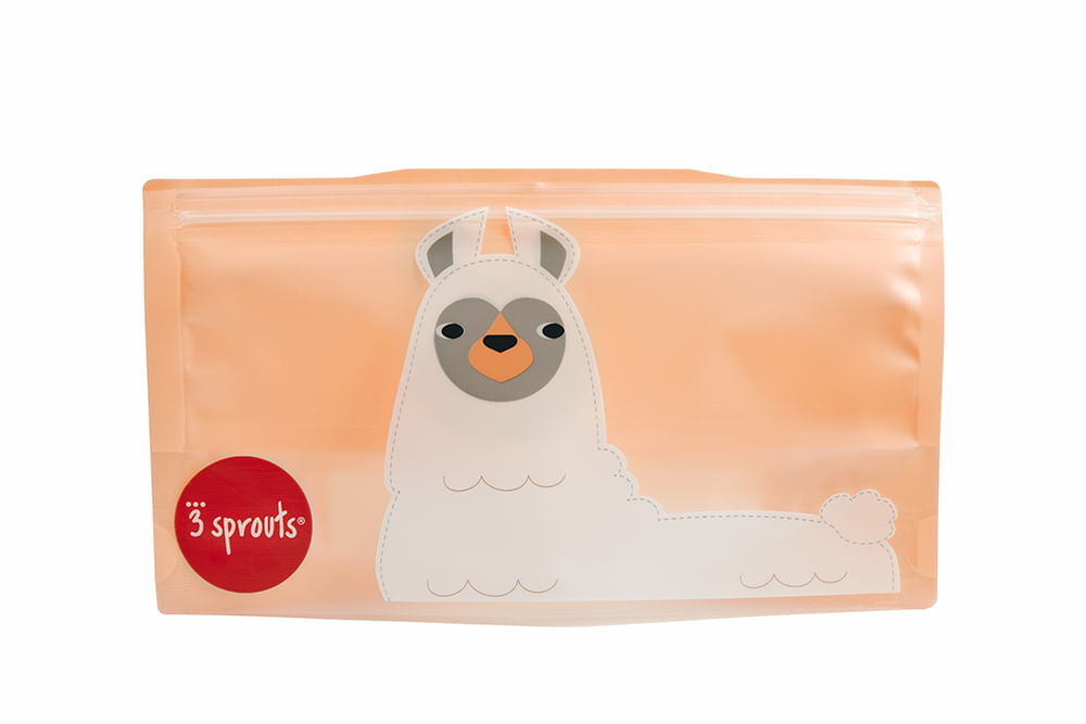 Snack Bag  3 Sprouts Lhama Kit Com 2 Unidades