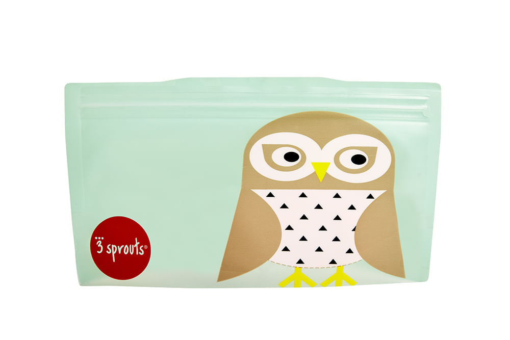 Snack Bag  3 Sprouts Coruja Kit Com 2 Unidades