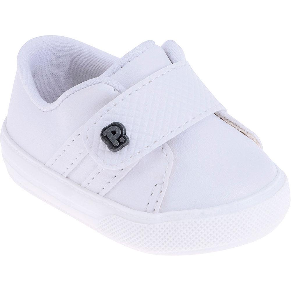 Tênis Infantil - Baby Classic - Branco com Velcro - Pimpolho