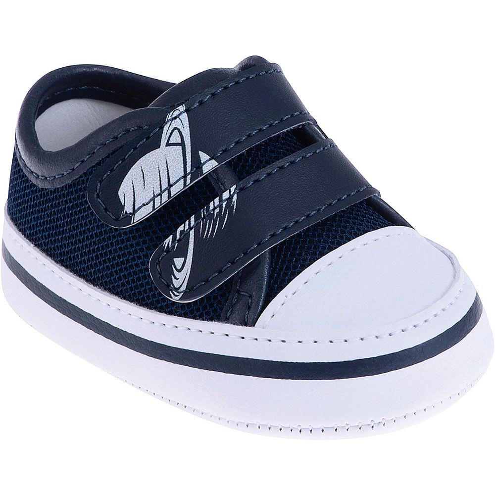 Tênis Infantil - Baby Meninos - Saturno Azul com Velcro - Pimpolho