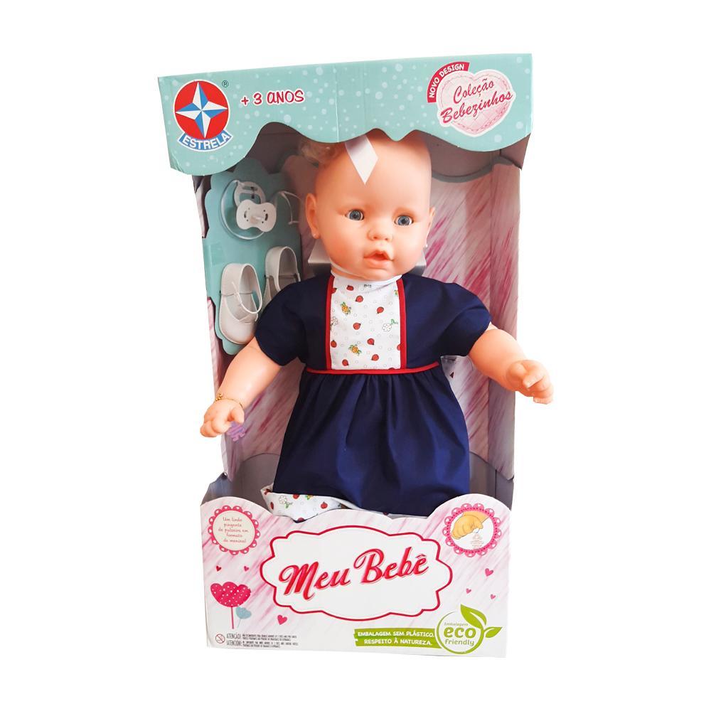 Boneca Estrela Meu Bebê Vestido Marinho 3+