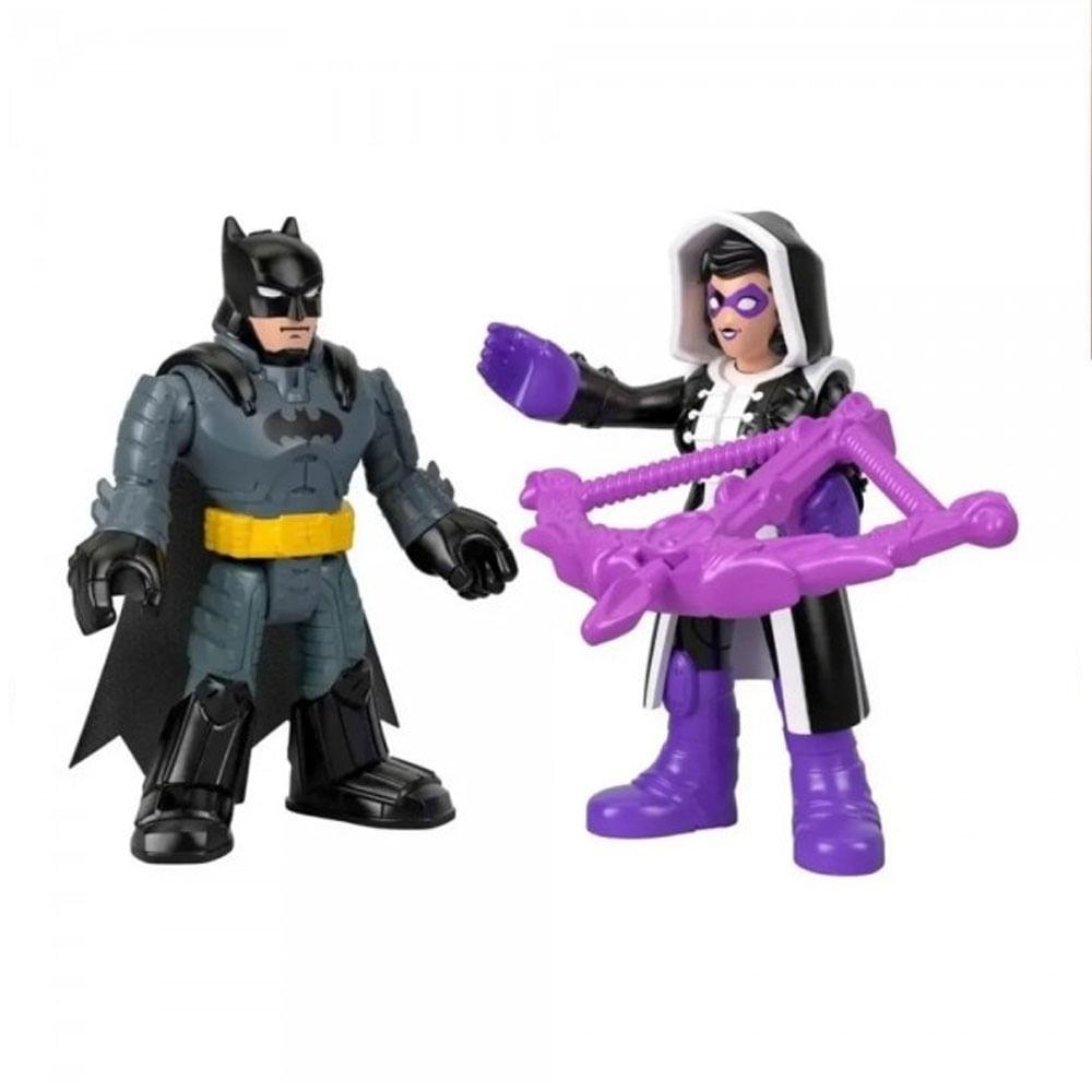 Mini Bonecos - 7 Cm - Batman e Huntress - Imaginext DC Super Amigos - Fisher-Price