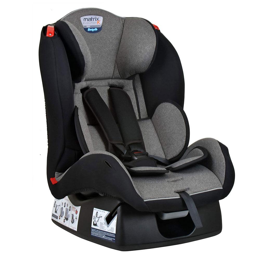 Cadeira para Auto - De 0 a 25 Kg - Evolution K - Mescla Cinza - Burigotto