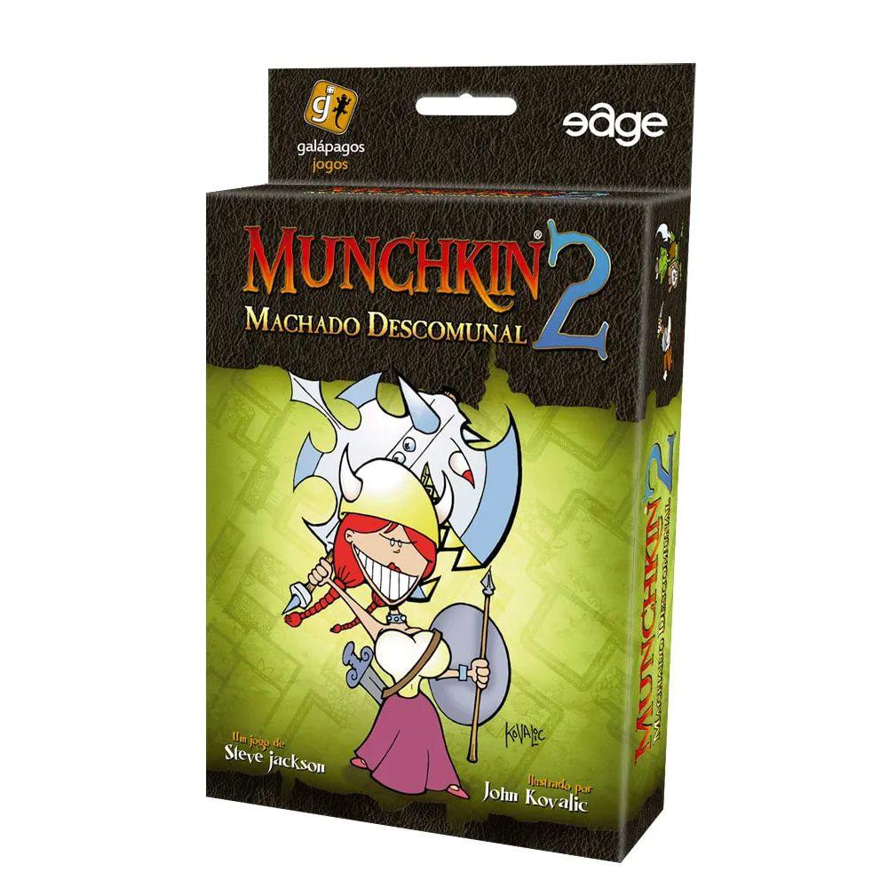 Munchkin 2 Machado Descomunal Expansão de Jogo de Cartas Galapagos MUN002