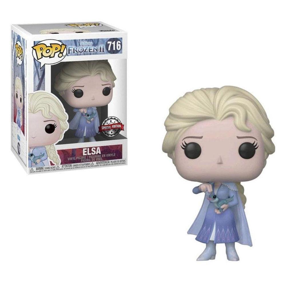 Figura Colecionável - Funko POP - Disney - Frozen 2 - Elsa Vestido Azul - Edição Especial - Funko