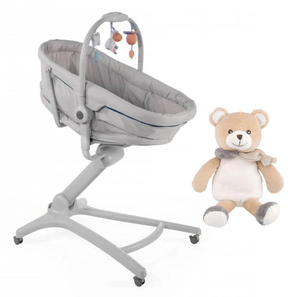 Kit Moisés - Baby Hug 4 em 1 - Glacial  e Pelúcia 25 Cm - Meu Primeiro Urso Dou Dou - Chicco
