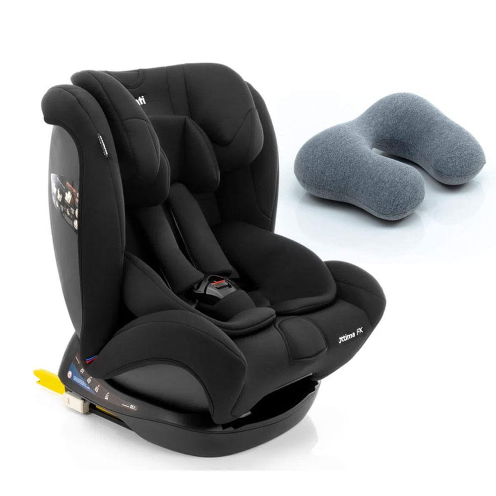 Kit de Cadeira Para Auto - 0 a 36 Kg - Ottima FX - Black Intense e Almofada para Pescoço By FOM - Infanti