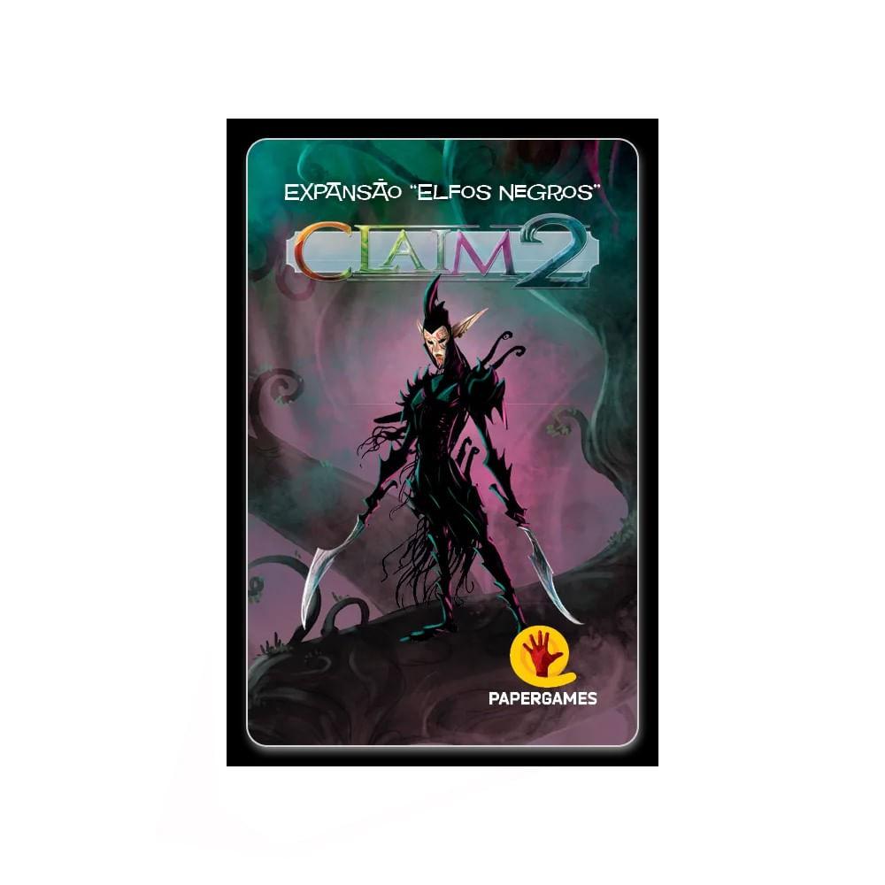 Claim 2 Elfos Negros Expansão de Jogo de Cartas PaperGames J041