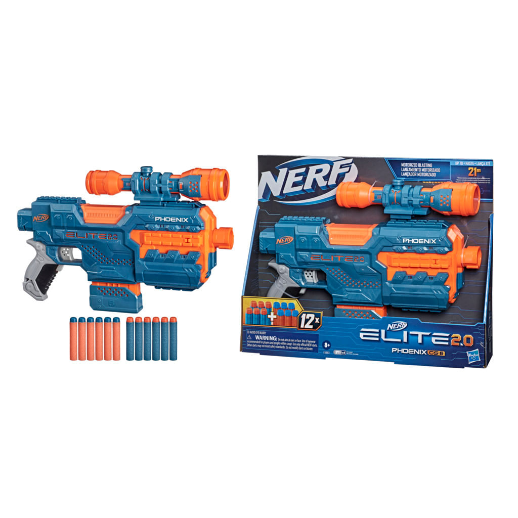 Lançador De Dardos - Nerf - Elite 2.0 - Phoenix CS 6 - Hasbro