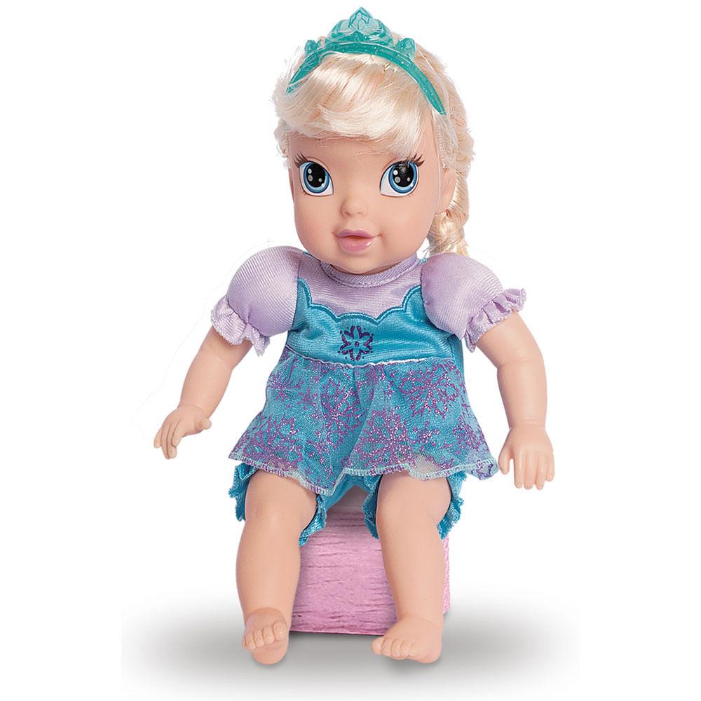 Boneca Bebê - 35 Cm - Disney - Frozen - Baby Elsa - Mimo