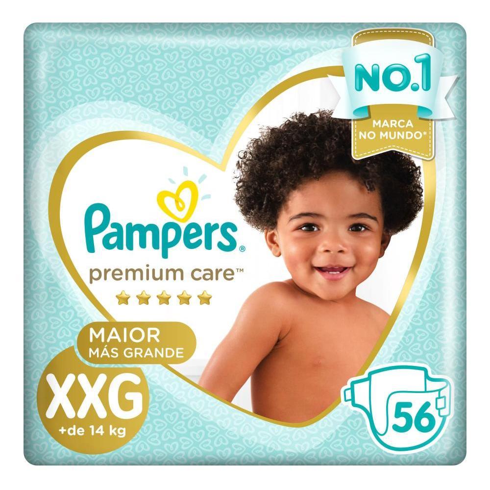 Fralda Pampers Premium Care Nova Jumbo Tamanho XXG 56 Unidades