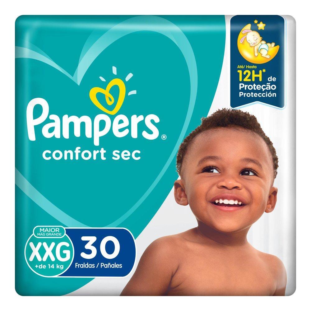 Fralda Pampers Confort Sec Mega XXG 30 unidades