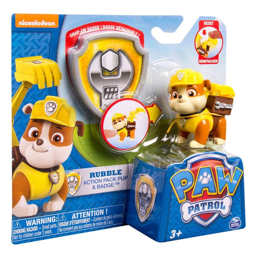 Mini-Figura---Patrulha-Canina---Pack-de-Acao---Rubble---Sunny-1