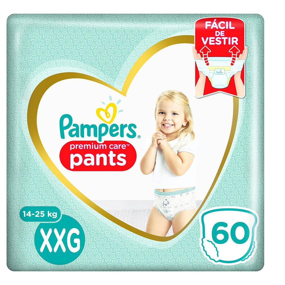 Fralda Pampers Premium Care Pants Top Tamanho XXG 60 unidades