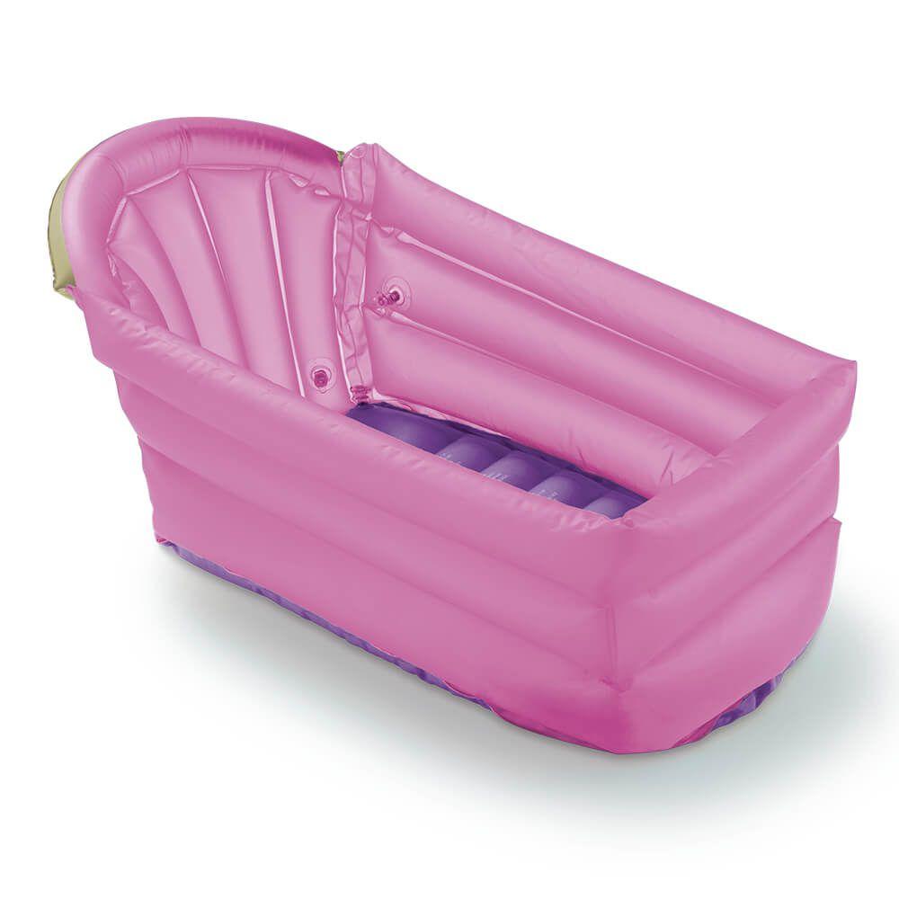 Banheira inflável Mutlikids Bath Buddy rosa