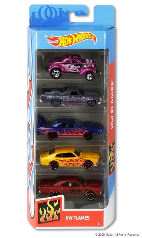 Hot Wheels Kit Com 5 Carrinhos HW Flames - Mattel GHP60