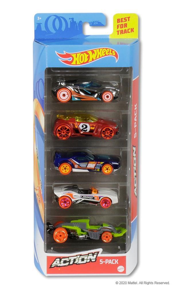 Hot Wheels Kit Com 5 Carrinhos Action - Mattel GHP64