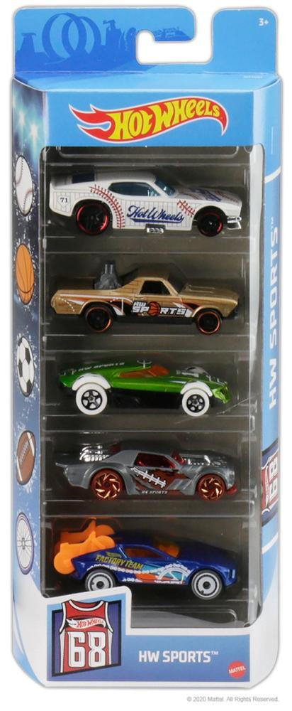 Hot Wheels Kit Com 5 Carrinhos HW Sports - Mattel GTN37