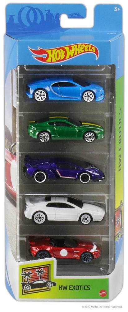 Hot Wheels Kit Com 5 Carrinhos HW Exotics - Mattel GTN33