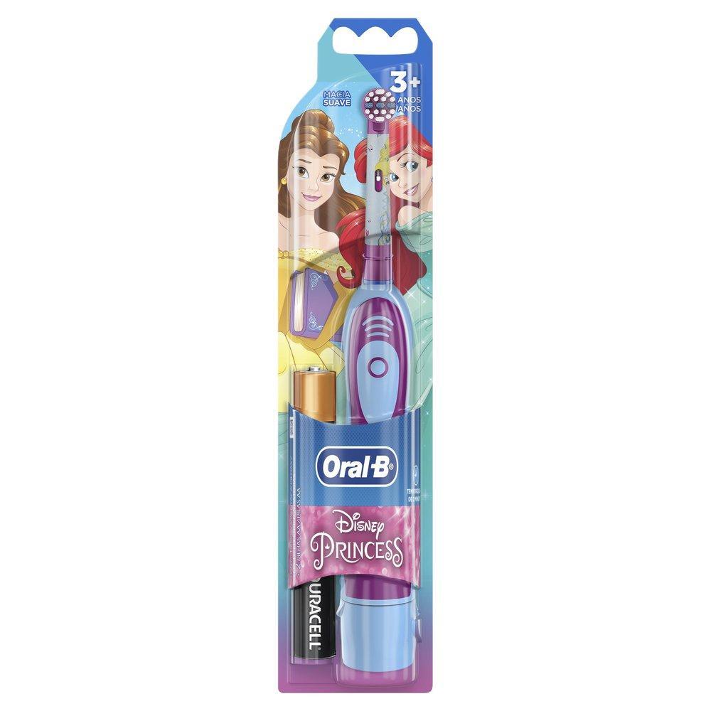 Escova Elétrica Oral-B Princess Disney + 2 Pilhas AA