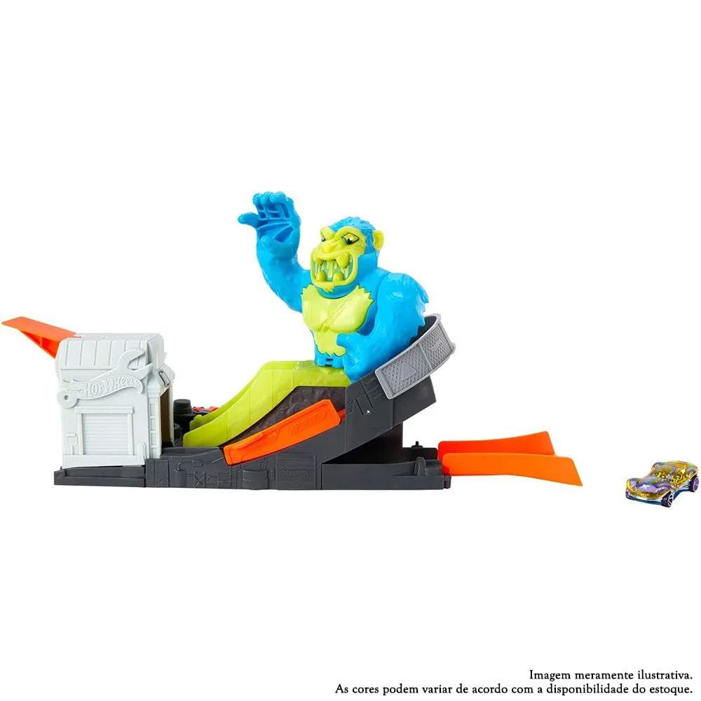 Pista Hot Wheels - Ataque Tóxico do Gorila - Mattel
