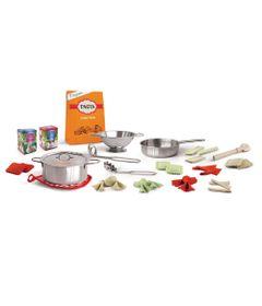 Brincadeira-de-Casinha---Conjunto-de-Acessorios---Hora-do-Jantar---Cozinha-Italiana-32-Pecas---FanFun