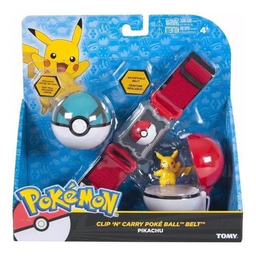 Pokemon - Kit De Ação Cinto Com 2 Pokebolas E Personagem - S