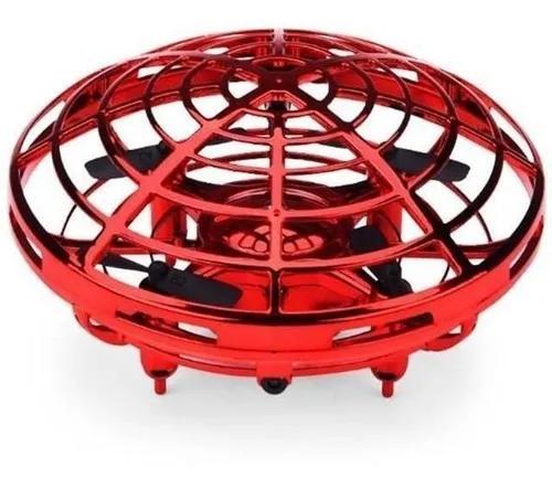Brinquedo Drone Ufo Infantil Vermelho Com Luz Candide