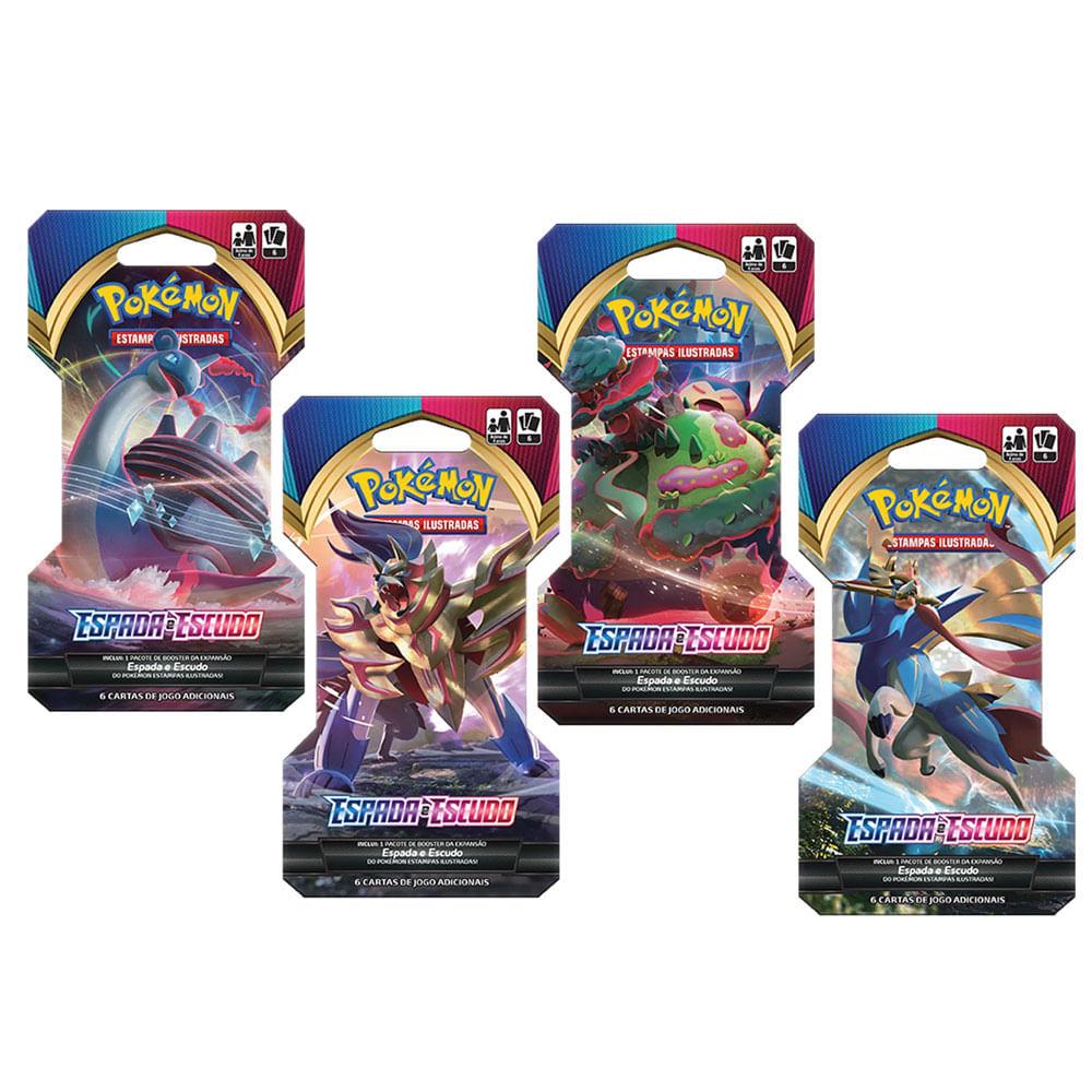Kit Deck Pokémon - 4 Bliters - Espada e Escudo - Copag