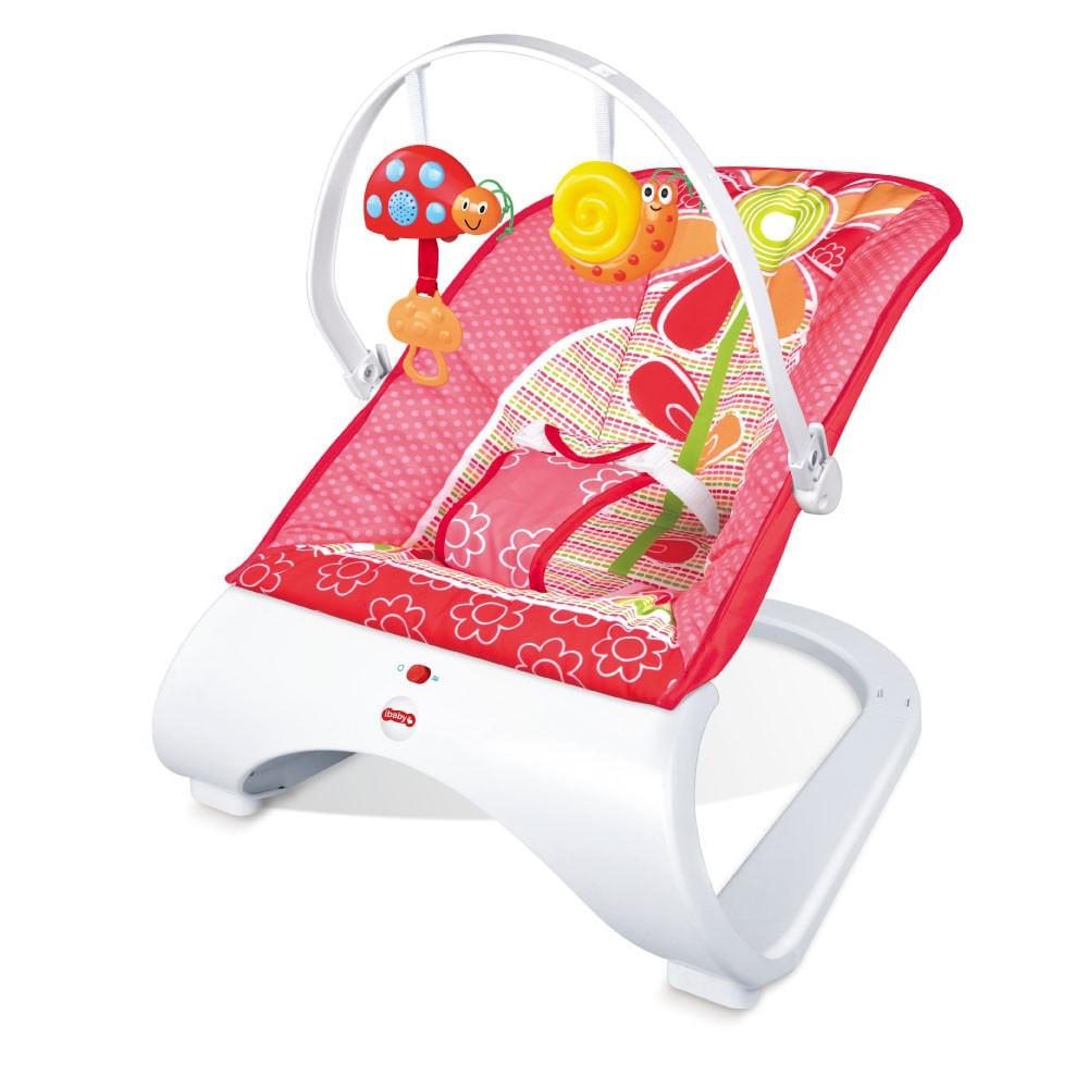 Cadeira de Descanso Bebe Acolchoado com Vibração e Som Base Curva Importway