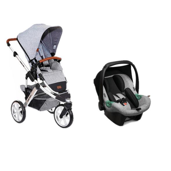 Carrinho com bebê conforto Salsa 3 Graphite Gray - Abc Design
