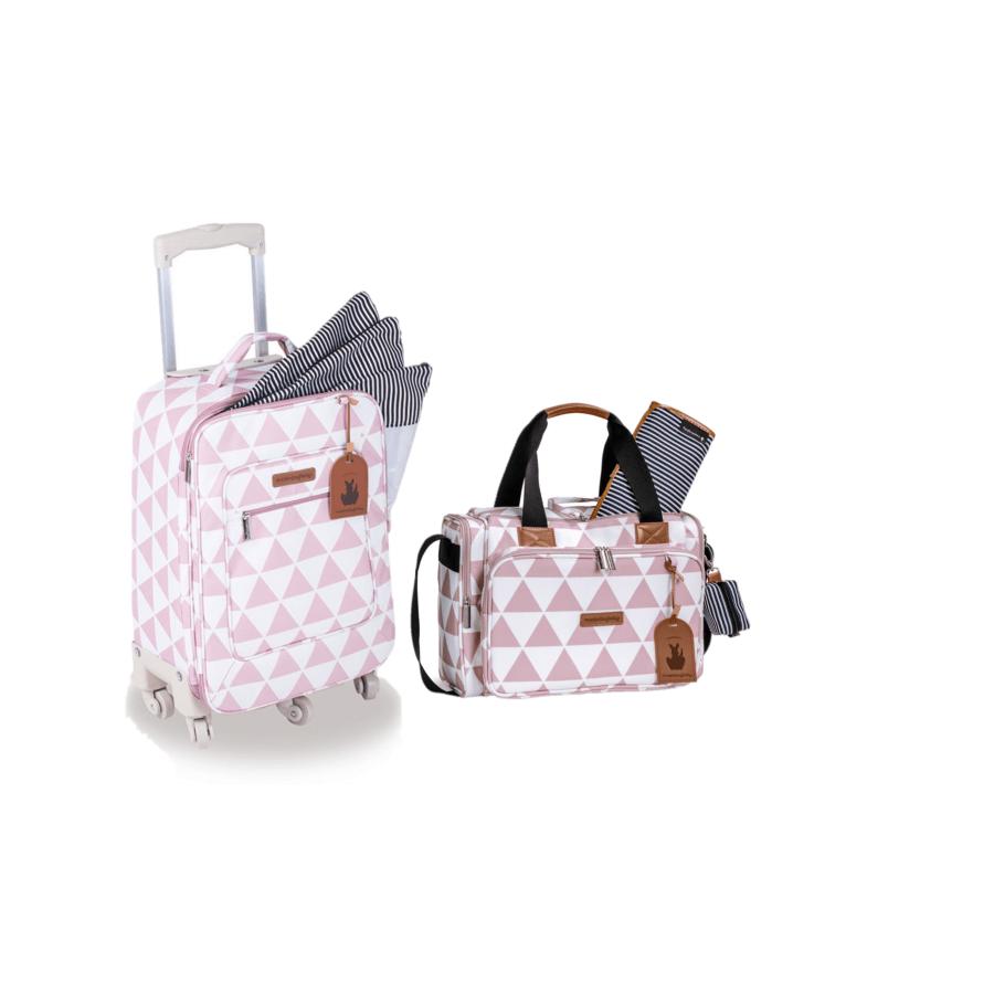 Kit mala maternidade de rodinha com bolsa Térmica Anne Manhattan Rosa - Masterbag Baby