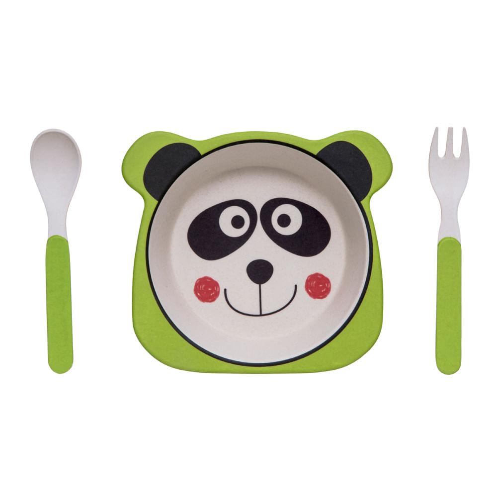 Conjunto De Alimentação - 3 Unidades - Eco Panda - Girotondo