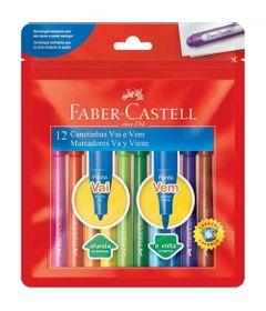 Canetas-Hidrograficas---Vai-e-Vem---12-Cores---Faber-Castell_Frente
