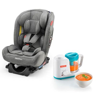 Kit-de-Cadeira-Para-Auto---0-a-36-Kg---All-Stages-Cinza-e-Processador-de-Alimentos---Fisher-Price