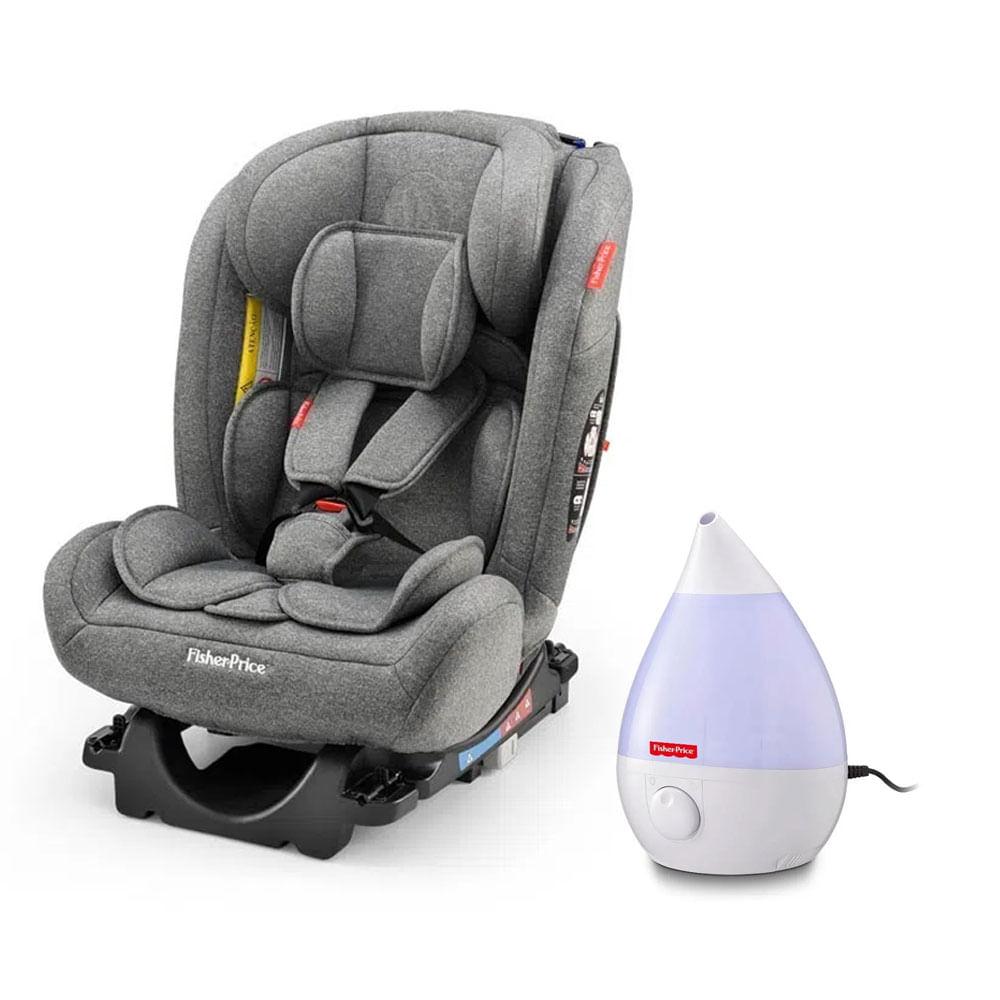 Kit de Cadeira Para Auto - 0 a 36 Kg - All-Stages Fix 2.0 - Cinza e Umidificador de Ar - Fisher-Price