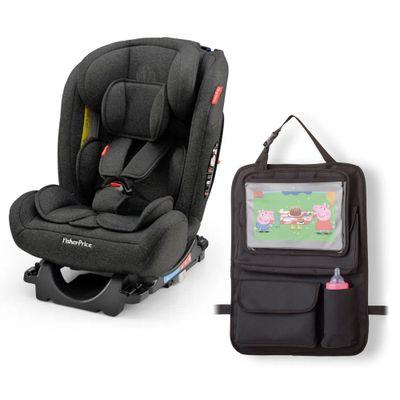 Kit-de-Cadeira-Para-Auto---0-a-36-Kg---All-Stages-Preta-e-Organizador-Para-Carro---Fisher-Price