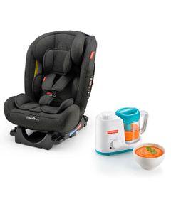 Kit-de-Cadeira-Para-Auto---0-a-36-Kg---All-Stages-Preta-e-Processador-de-Alimentos---Fisher-Price