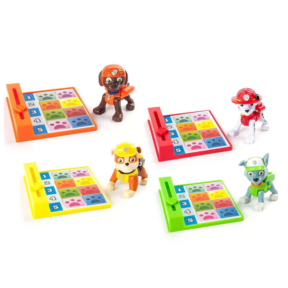 Kit de Mini Figuras com Acessórios - Patrulha Canina - 4 Personagens - Sunny