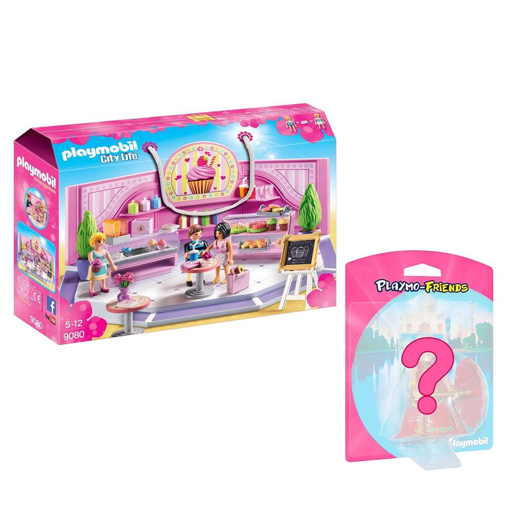 Kit de Playmobil - Figuras Sortidas - Meninas e Loja de Cupcake - 9080 - Sunny