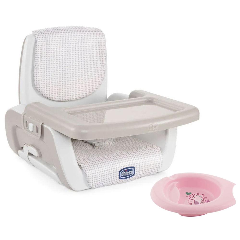 Kit de Assento de Elevatório - Mode - Pois e Bowl de Alimentação Rosa - Chicco