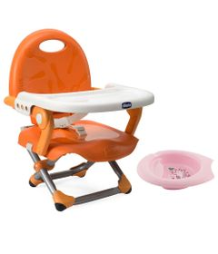 Kit-de-Pocket-Assento-Elevatorio---Pocket-Snack---Mandarino-e-Bowl-de-Alimentacao-Rosa---Chicco